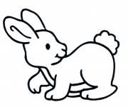 Free coloring and drawings Rabbit for child Coloring page