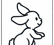 Free coloring and drawings Single rabbit Coloring page