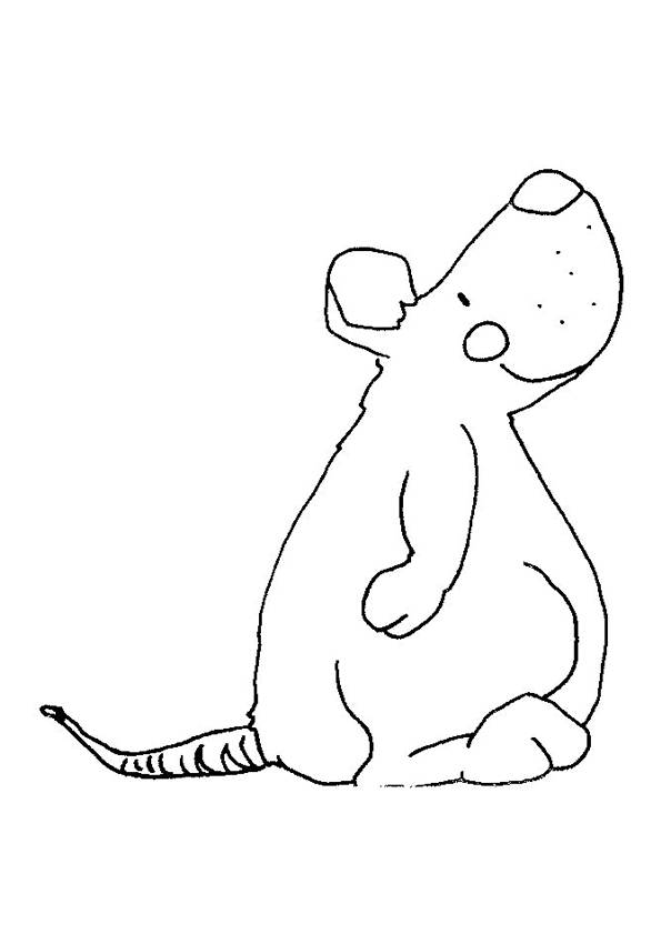 Free coloring and drawings Funny rat Coloring page