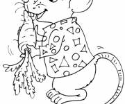Free coloring and drawings Rat and carrot Coloring page