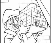 Coloring pages Rat in his cage