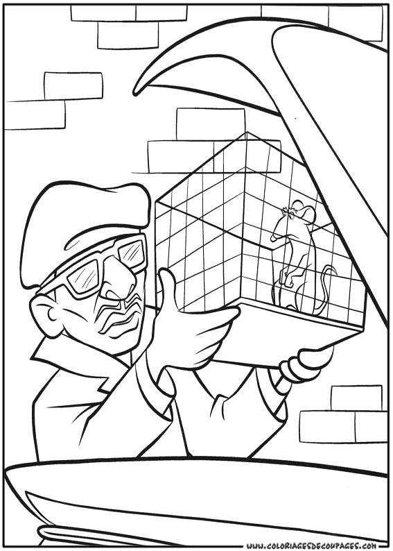 Free coloring and drawings Rat in his cage Coloring page