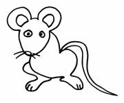Coloring pages Rat simple