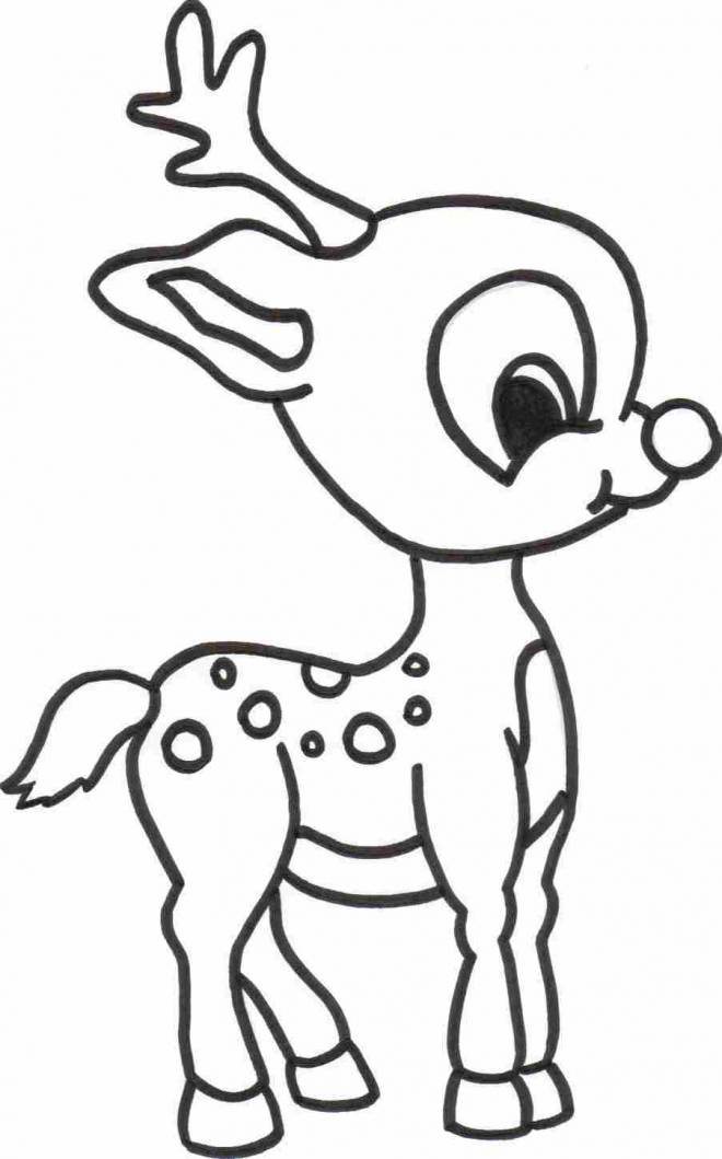 Free coloring and drawings Baby Reindeer Coloring page