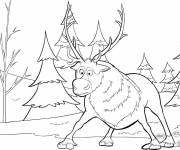 Coloring pages Caribou surprised
