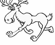 Coloring pages Hilarious Reindeer