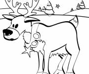 Coloring pages Little Christmas Reindeer