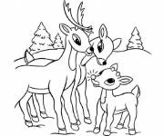 Coloring pages Reindeer family
