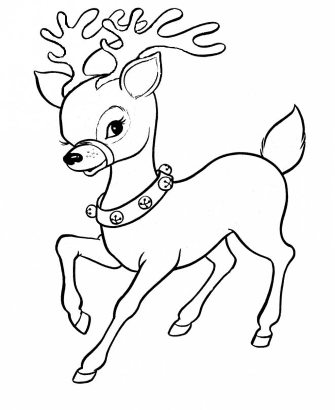 Free coloring and drawings Reindeer too cute Coloring page