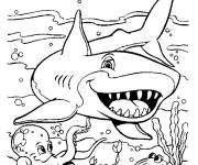 Coloring pages Cartoon shark