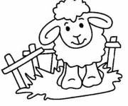 Free coloring and drawings Color sheep Coloring page
