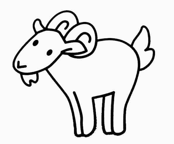 Free coloring and drawings Easy sheep Coloring page