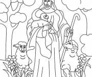 Coloring pages Sheep Jesus