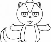 Free coloring and drawings Colored skunk Coloring page