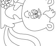 Free coloring and drawings Cute skunk Coloring page