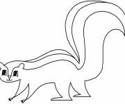 Free coloring and drawings Easy skunk Coloring page