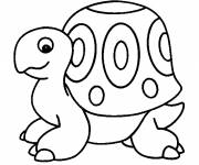 Coloring pages little black and white turtle