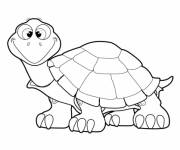 Coloring pages Pencil turtle