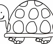 Coloring pages Turtle watching you