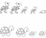 Coloring pages Turtles and mice