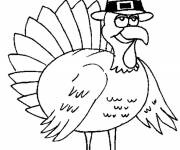 Coloring pages Sheriff Turkey