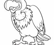 Coloring pages Cartoon vulture