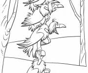 Coloring pages Comic vultures