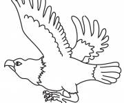 Coloring pages Flying vulture