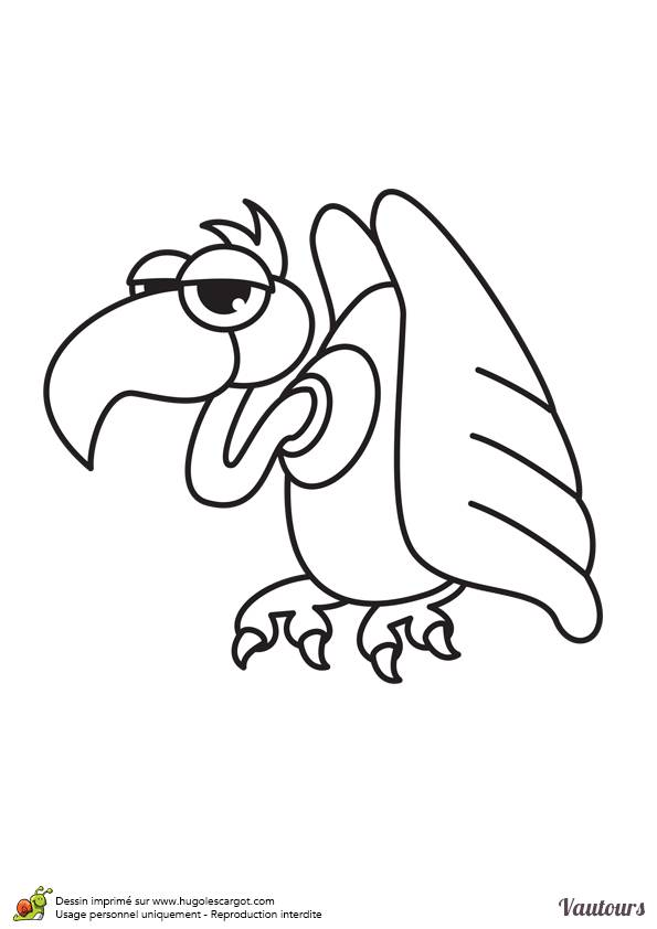 Free coloring and drawings Humorous vulture Coloring page