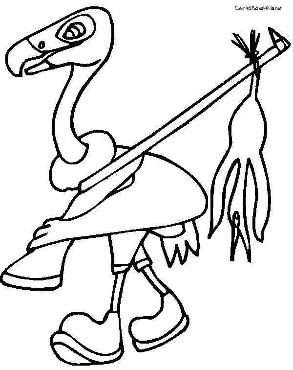 Free coloring and drawings Hunter vulture Coloring page