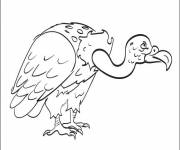 Free coloring and drawings Stylized vulture Coloring page