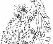 Coloring pages Very naughty vulture