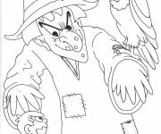 Coloring pages Vulture and the sorcerer