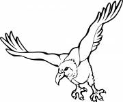Coloring pages Vulture in flight