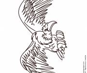 Coloring pages Vulture opening its wings