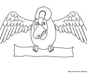 Coloring pages Vulture while smiling