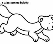 Coloring pages Weasel and Letters