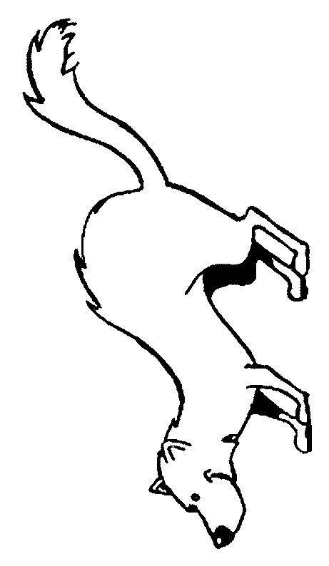 Free coloring and drawings Weasel in black and white Coloring page