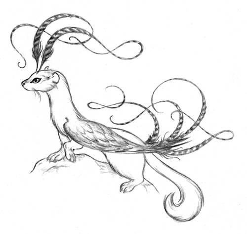 Free coloring and drawings Weasel to download Coloring page