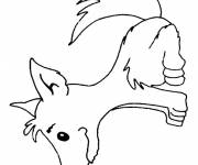 Free coloring and drawings Wolf to cut Coloring page