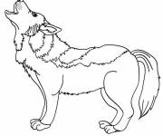 Free coloring and drawings Wolf to cut out Coloring page