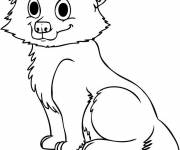 Free coloring and drawings Wolf to download Coloring page