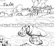 Free coloring and drawings A zoological park Coloring page