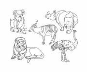 Free coloring and drawings Animals in black and white Coloring page
