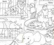 Free coloring and drawings Animals in cages Coloring page