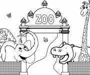 Free coloring and drawings Kindergarten Zoo Coloring page