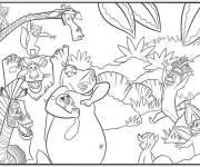 Free coloring and drawings Madagascar Zoo Coloring page