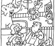 Free coloring and drawings Zoo and visitors Coloring page