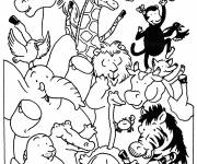 Free coloring and drawings Zoo Animals Online Coloring page