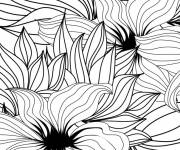 Coloring pages Adult Anti-stress Magic flowers